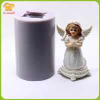 Three dimensional prayer angel candle mold chocolate handmade soap mold