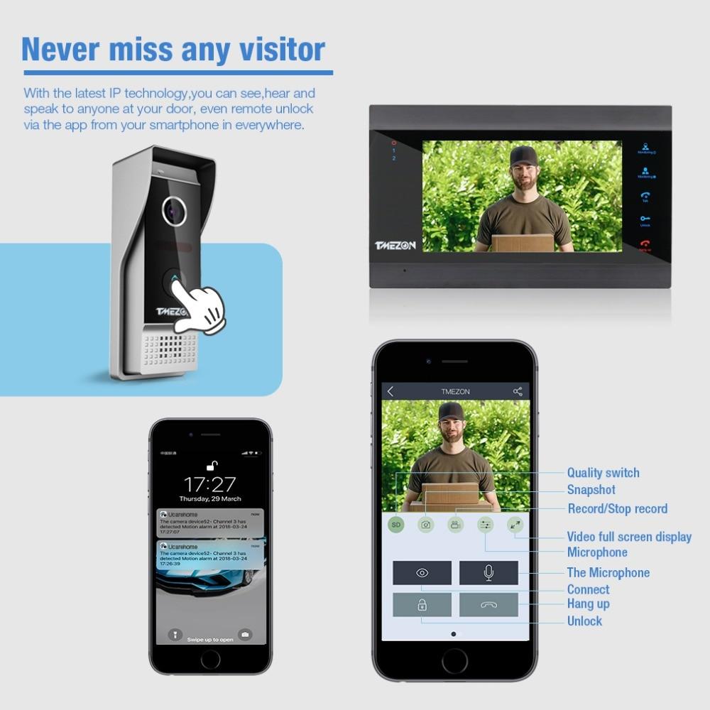 TMEZON 7 ιντσών ασύρματο / WIFI έξυπνο IP Video - Ασφάλεια και προστασία - Φωτογραφία 5