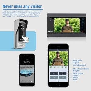 Image 5 - Tmezon sistema de interfone com campainha, 7 Polegada sem fio/wi fi inteligente ip sistema de interfone com 1 monitor de visão noturna + 2 à prova de chuva câmera de telefone da porta