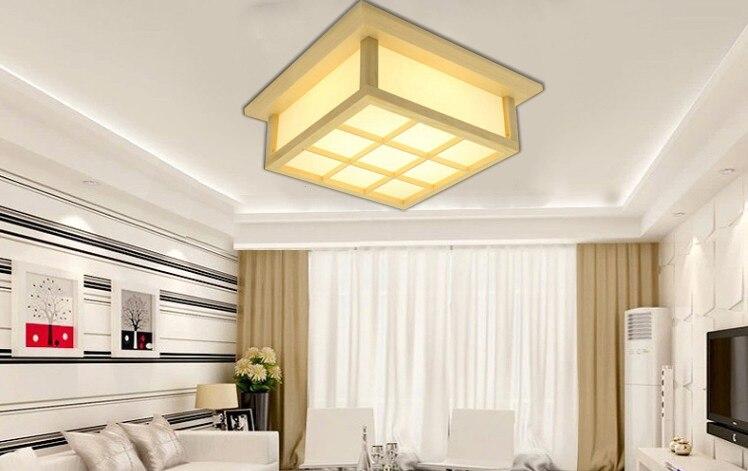 Moderna četverokutna ploča od hrastovog drveta, PVC drvena stropna - Unutarnja rasvjeta - Foto 2
