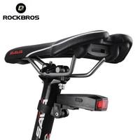 ROCKBROSจักรยานไร้สายไฟท้ายสมาร์ทไฟท้ายป้องกันการโจรกรรมปลุกแสงเซ็นเซอร์ช็อตปลอดภัยแฟลชแสง...