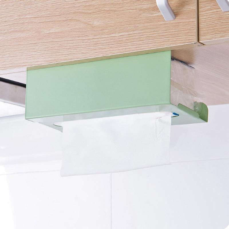 Кухня тканевый держатель для ванной комнаты бумага для органайзера держатель туалетный столик для Тип ткани для коробок съемного Бумага держатель стойки Полотенца полка