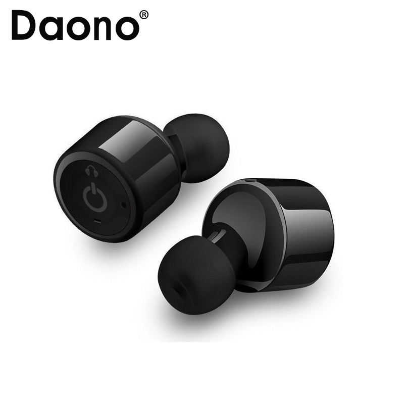 Daono TWS X1T Mini Twins True Stereo Bluetooth Earphone Headphones Headset TWS Wireless Bluetooth Handfree Dual Stereo Earbuds 2017 hot sale bluetooth headset double headset twins wireless stereo earbuds mini earphone bluetooth 4 1 tiny portable handfree