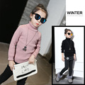 Children's Garment Girl Sweater Children Thickening High Lead Rendering Sweater Knitting Sweater Kids Clothing