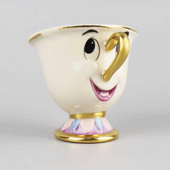 Милый мультфильм Красавица и Чудовище кофе чайный набор кружка Миссис Поттс чип чайная чашка один набор [1pot + 2 чашки] для друга подарок