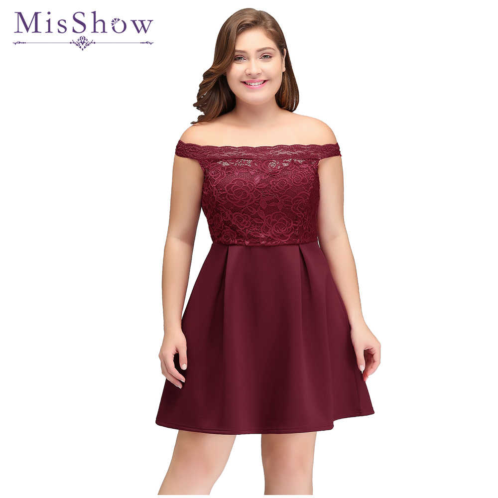 Vestido De Festa Prom Dresses 2019 Cut out Lace cheap plus size party  dresses Off the Shoulder Short Prom Dress Robe De Soiree