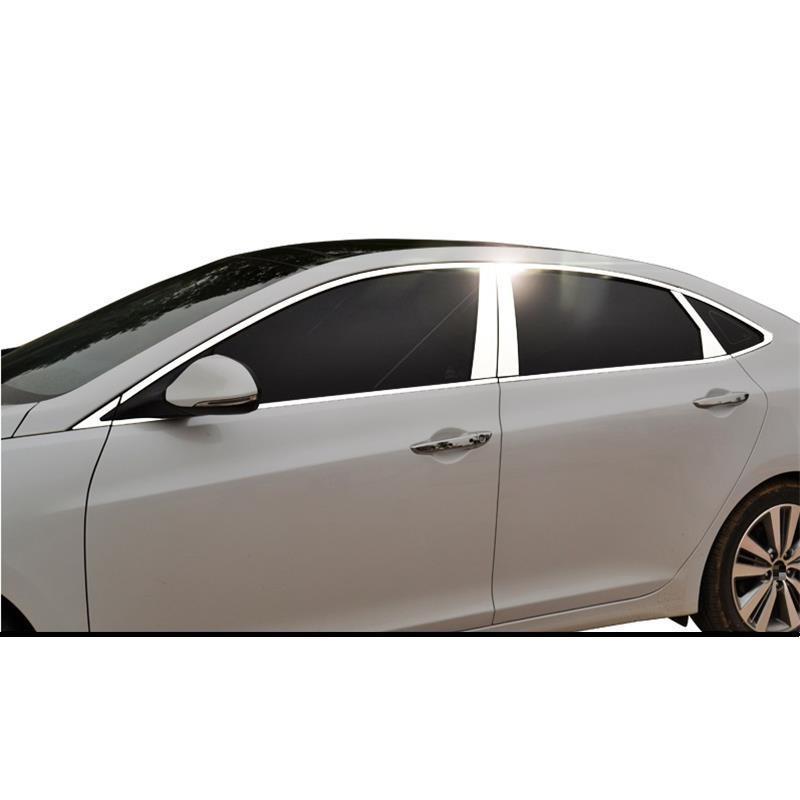 Extérieur de fenêtre promouvoir Auto décoratif modifié Automovil pièces brillant paillettes accessoires protecteur 18 19 pour Hyundai Mistra