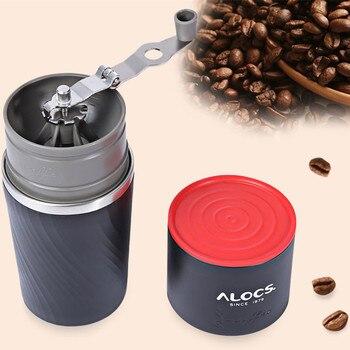 ALOCS CW-K16 Outdoor Tableware Portable Coffee Maker 4 in 1 Stainless Steel Camping Manual Easy Coffee Grinder Camping Tableware