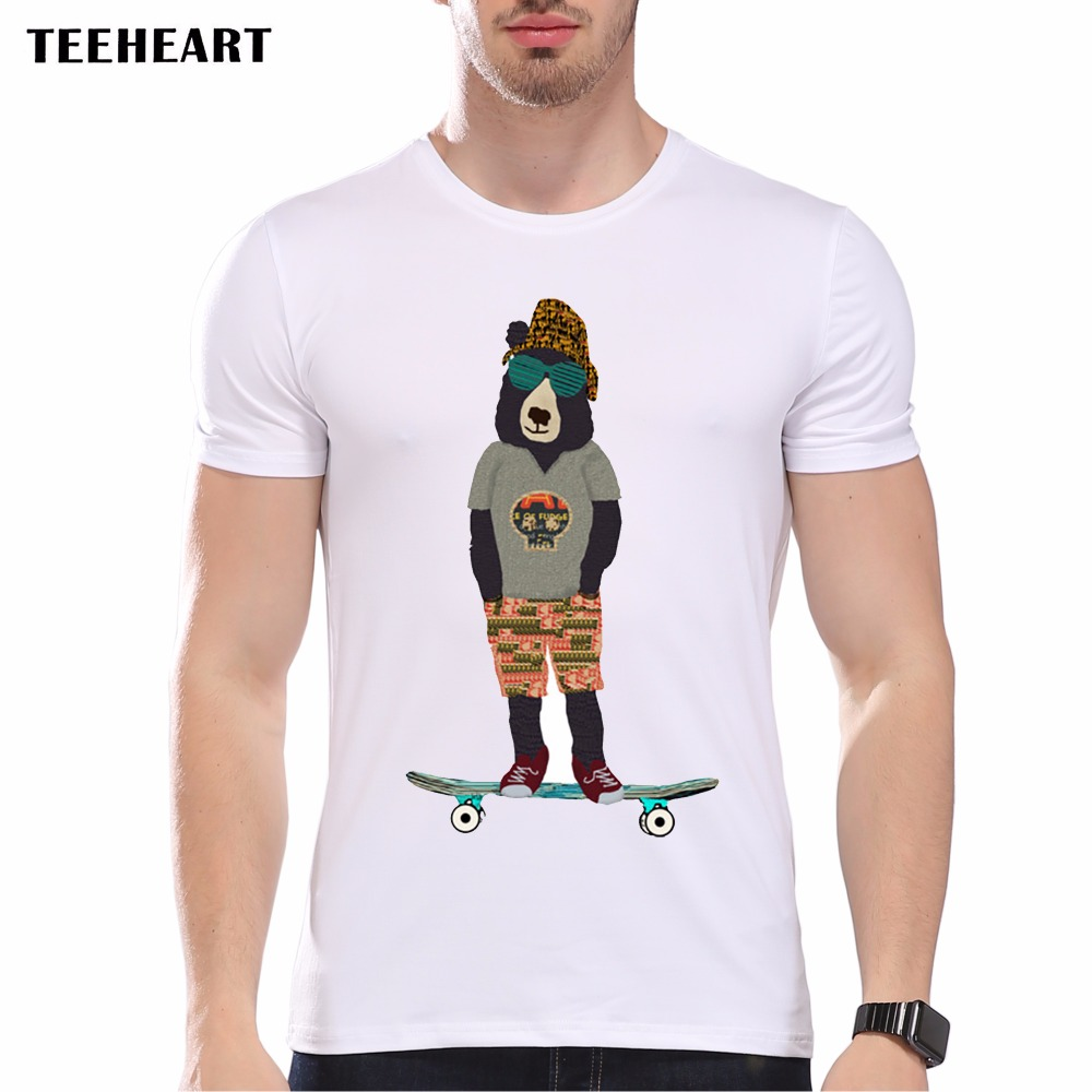 New 2017 summer fashion summer relax scooter bear design t for High quality custom shirts