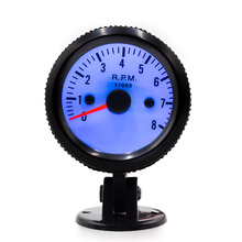 CNSPEED 2 inch 52mm universal 0-8000 Tachometer Gauge Meter white face & led light Indicator Control Car XS100016(China)