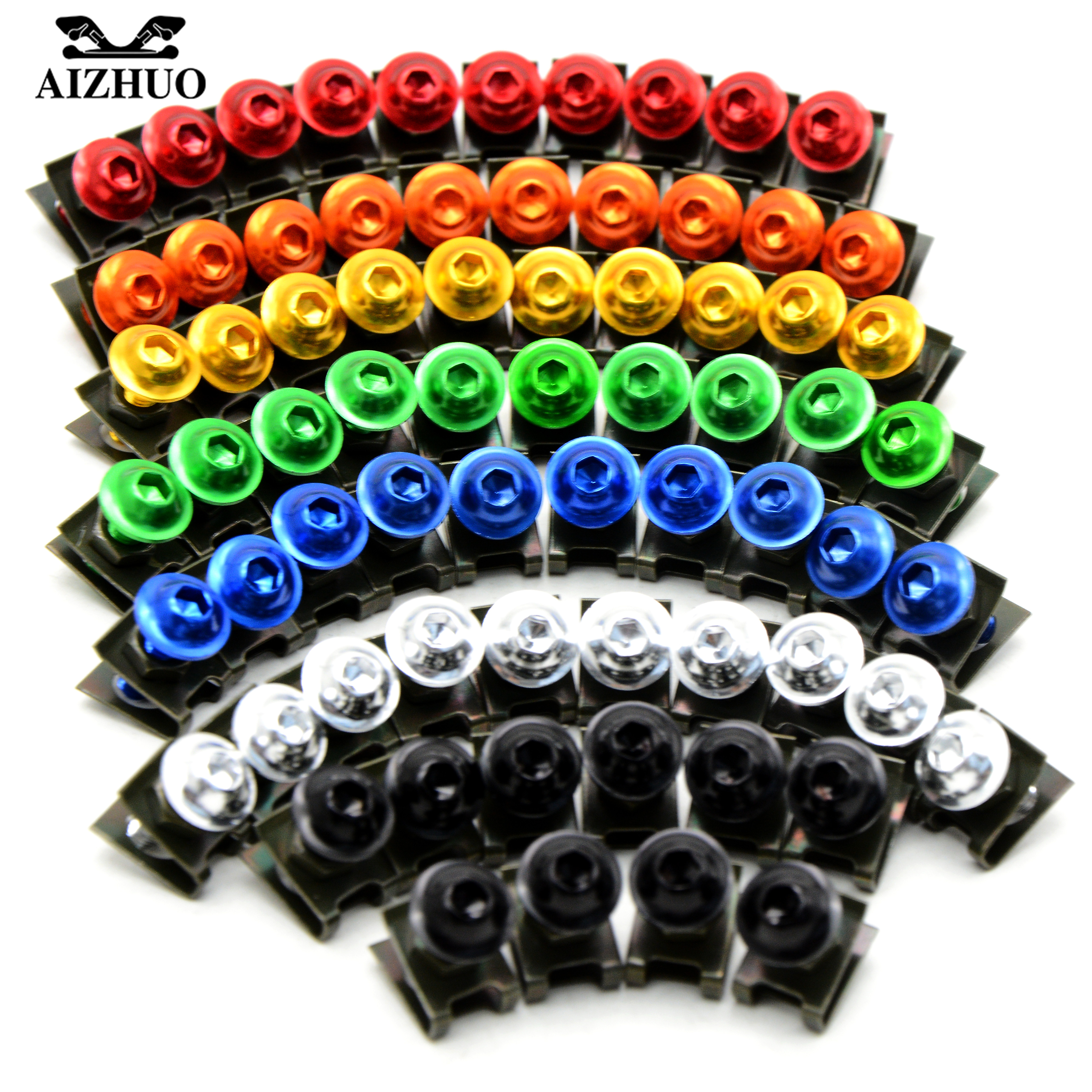 10pcs 6mm Universal Motorcycle Fairing Bolts FOR YAMAHA MT 03 YZF R25 YZF R3 YBR 125 YZF R15 KAWASAKI ZX9R ZX10R ZZR ZXR NINJA in Covers Ornamental Mouldings from Automobiles Motorcycles