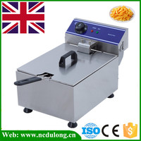 1 Piece 3000W 10L Commercial Electric Deep Fryer Countertop Single Tank Stainless Steel With Basket