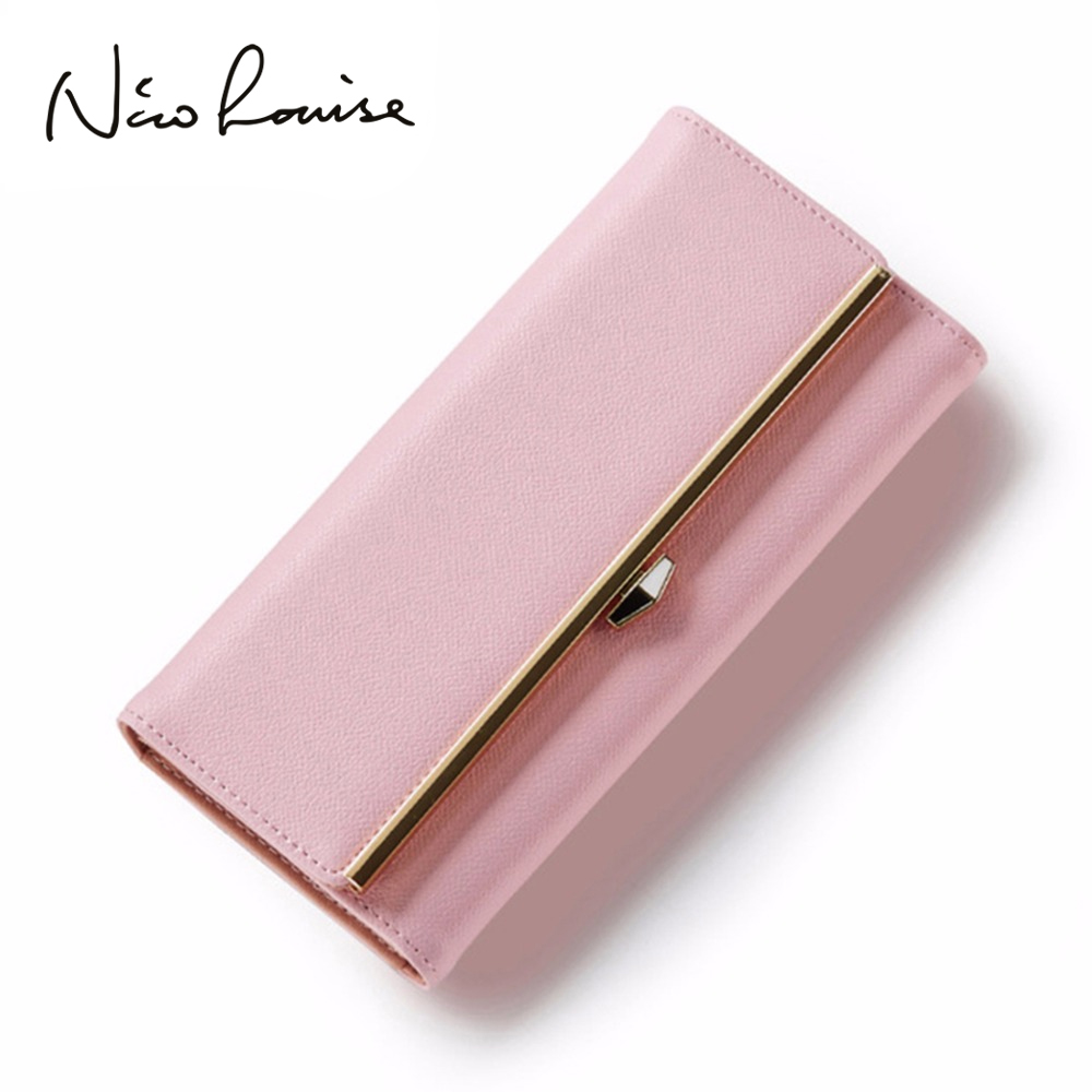 Latest Elegant Women Leather Wallet Fashion Lady Portable Multifunction Long Solid Color Change Purse Hot Female Clutch Carteras Кошелёк