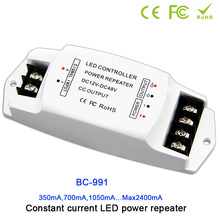 BC-991 1CH constant current led power repeater;DC12-48V input; 350mA/CH*1 or 700mA/CH*1 or 1050mA/CH*1 or 2400mA/CH*1 output