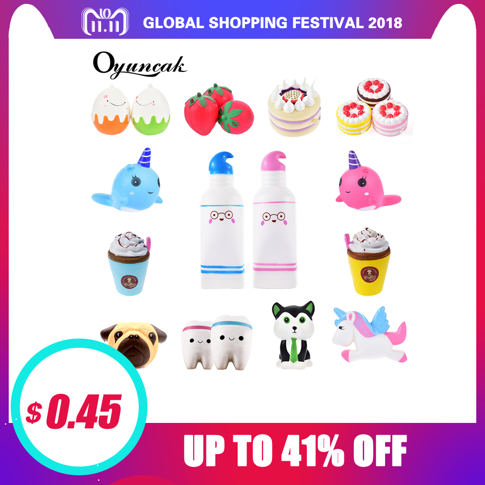 Oyuncak Squishy Toys Novelty Antistress Unicorn Squish Donut Jumbo Stress Relief Toys Surprise Popular Squeeze Anti-Stress Funny oyuncak squishy unicorn novelty gag toys surprise antistress fun squeeze unicorn squish kawaii anti stress jumbo funny gadgets