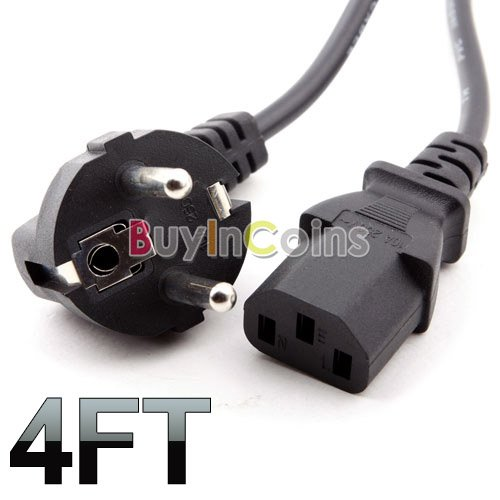 Computer Power Cord for computers and electronics 3 prong AC
