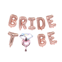 Rose Gold Diamond Ring Bride To Be Balloons Wedding Bridal Shower Party Decoration Foil Letter Balloon Hen Party Supplies цена и фото