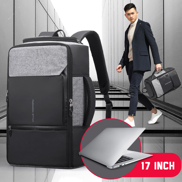 17 inch Laptop Backpack Anti Theft Bag Male Men Bagpack USB 15.6 Notebook Travel Business Backpacks Man Waterproof Outdoor Bags