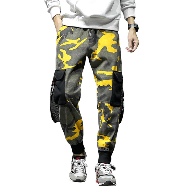 drop shipping 2018 newest fashion men camouflage cargo pants man jogging pants male sweatpants camo M-3XL NXP11