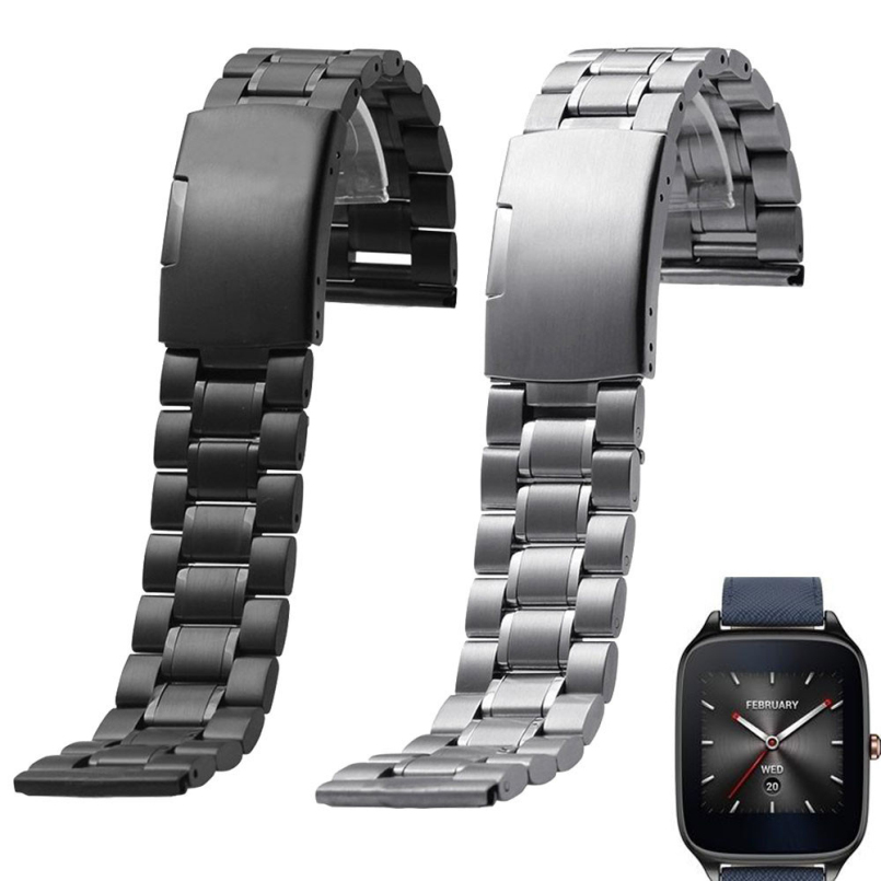Excellent Quality Luxury Replacement Watch Band Full Stainless Steel Quick Release Watch Band Strap for ASUS ZenWatch 2 WI501Q