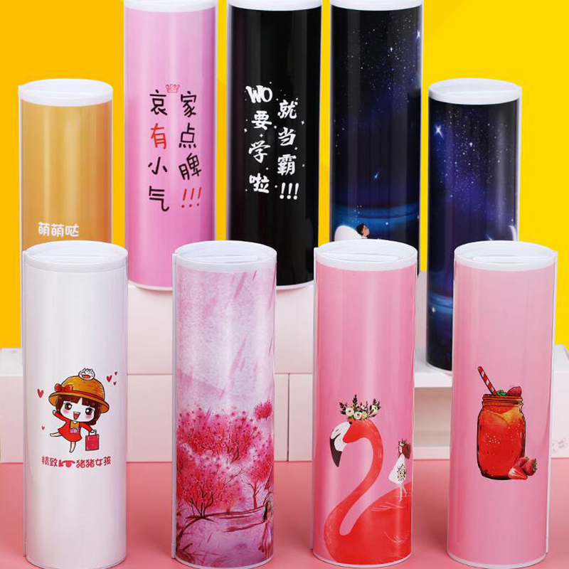 Extended Version School Pencil Case Office Multifunctional Cylindrical Girls Pencil Case , Support for Custom