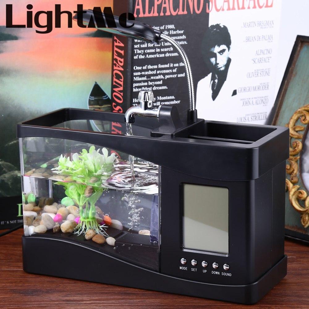 2016 New Electronic Usb Desktop Aquarium Mini Fish Tank