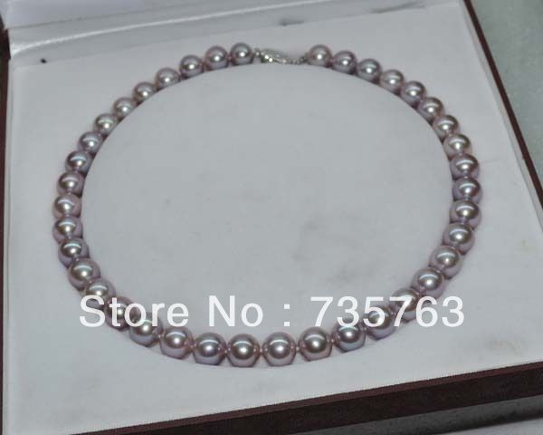 AAA+ 11-12MM NATURAL WHITE ROUND FRESHWATER CULTURED PEARL NECKLACE 18/'/'