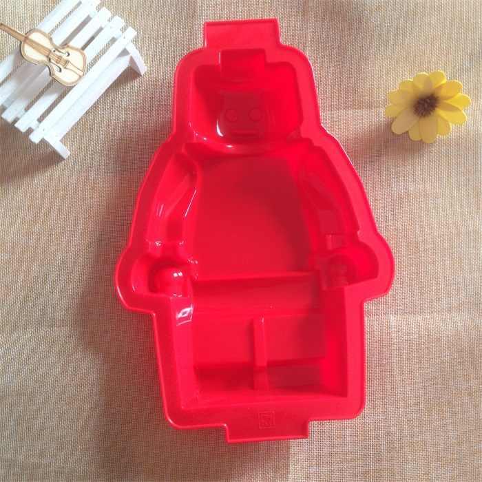 Free Shipping 100% Food Grade Silicone Lego Robot Mold Super Big Robot Cake Ice Mold Mould Fondant Cake Tools 30*19.5*4 CM