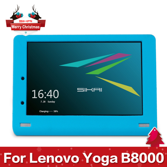 Sikai New Good Quality Silicone Case Protective Cover For  Lenovo YOGA Tablet 10 B8000 10'' Tablet