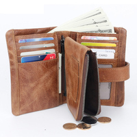 Fashion Genuine Leather Men Wallet Coin Purse Small Male Cuzdan Walet Portomonee Rfid PORTFOLIO Vallet Money Bag Card Holder
