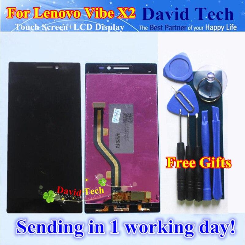 imágenes para De alta Calidad de Nueva Digitalizador de Pantalla Táctil + LCD de Repuesto para Lenovo Vibe X2 Teléfono Celular 5.0 pulgadas Negro Envío gratis