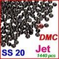 SS20 4.6-4.8 мм, 1440 шт./пакет Jet Black Гайка DMC Hot Fix FlatBack Стразы, горячие передачи горный хрусталь утюг одежды кристаллический камень
