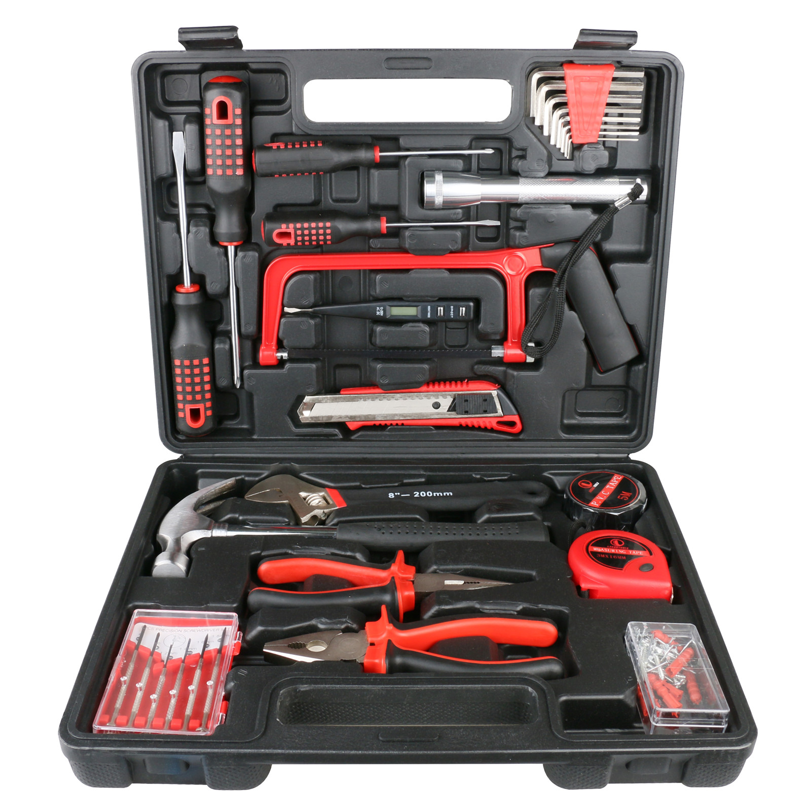32 pieces of automobile emergency tools, pliers, wrenches, screwdrivers, straightedge hammers.