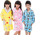 Girls & Boys Inverno Pijamas Robes Roupa Dos Miúdos Night-robe de Flanela Quente Pijamas Crianças Sleepwear Pijama Roupão 3-13 T Pigiama