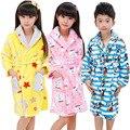 Girls & Boys Winter Kids Ropa de Noche bata de Dormir Batas Pijamas Ropa de Dormir Kids Pijamas Albornoz de Franela Caliente 3-13 T Pigiama