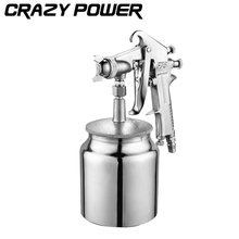 CRAZY POWER 600ML Professional Pneumatic Spray Gun Airbrush Sprayer Alloy Painting Atomizer Tools With Hopper For Painting Cars