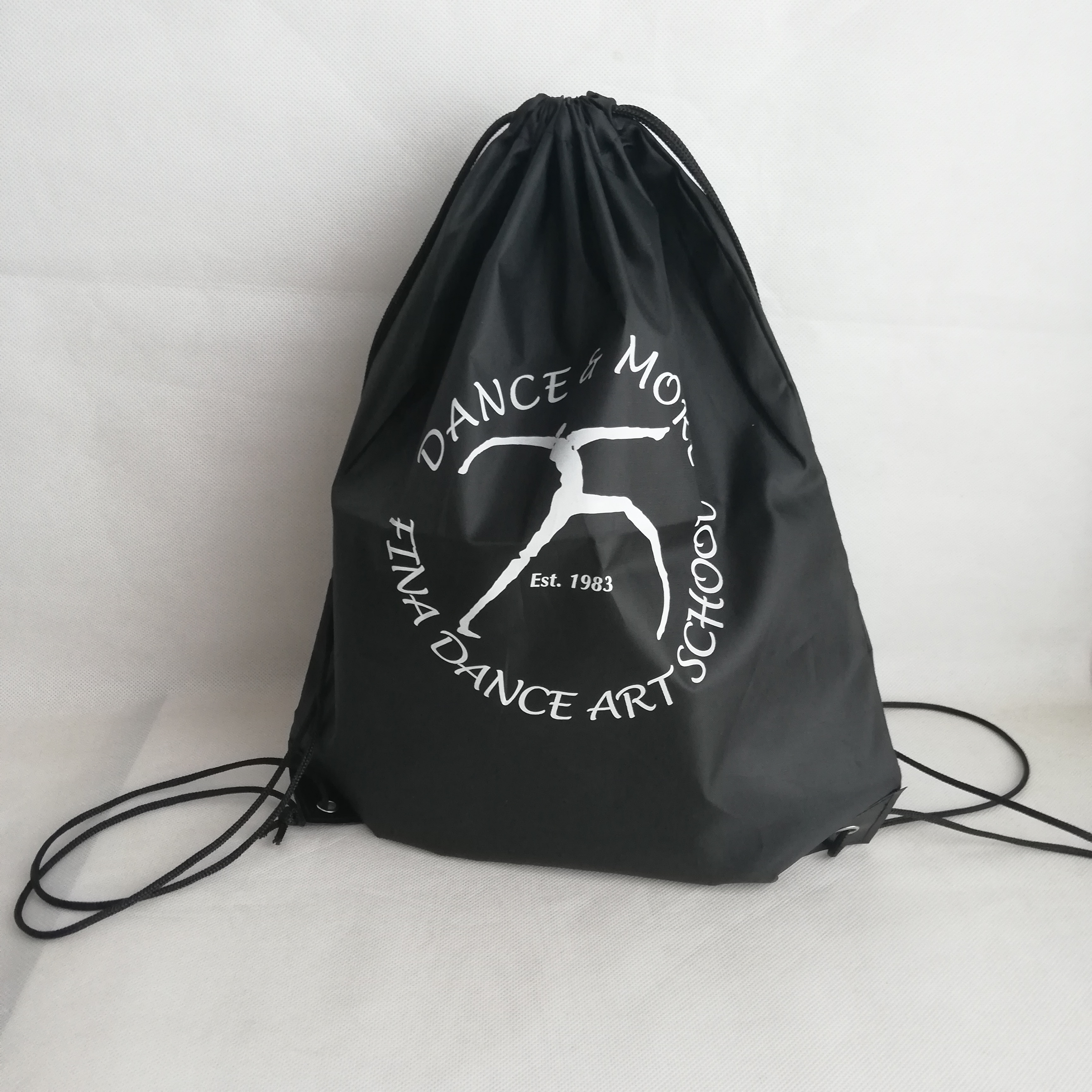 500pcs lot Nylon Drawstring Backpack Custom Your Logo for a Promotional Give Away Outdoor Sports 210D