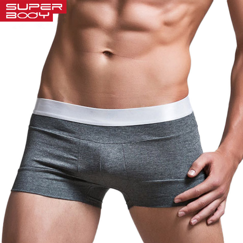 High Quality Cotton Underwear Men Boxer Shorts Fashion Low Waist U convex pouch Boxers  Comfort Cueca Boxer Men Trunks