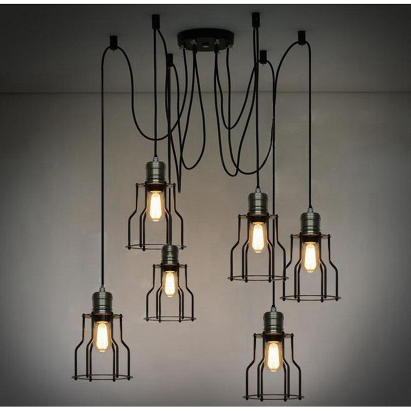 LuKLoy Pendant Lights Lamp, Vintage Industrial Retro Loft Pendant Lamp Light for Shop Cafe Restaurant Kitchen Decoration new loft vintage iron pendant light industrial lighting glass guard design bar cafe restaurant cage pendant lamp hanging lights