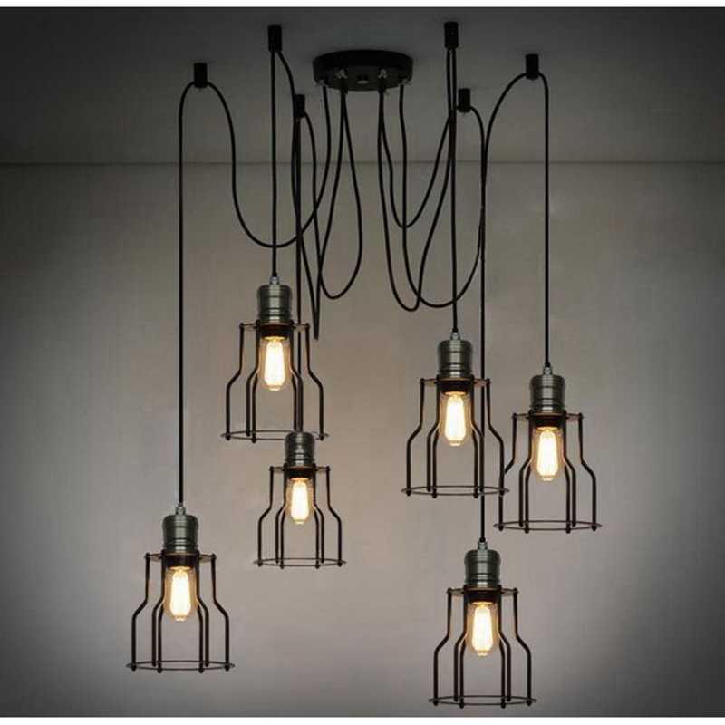 Подвесные светильники lukloy лампа, винтажный промышленный Ретро Лофт подвесной светильник для магазина кафе ресторана кухни украшения
