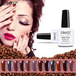 Elite99 ALL 12 Color Coffee Brown Nails Gel Easy Soak Off Gel Nail Polish 10ml Vernis Semi Permanent Gel Varnishes Gelpolish