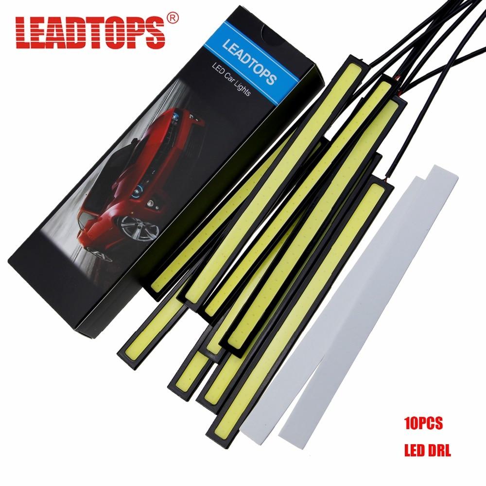 10Pcs COB LED Daytime Running Lights DC 12V DRL 14-17mm Waterproof Auto Car COB Driving Fog Lamp Car Styling EJ