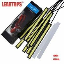 Leadtops 10 шт cob светодиодный дневные ходовые огни dc 12v