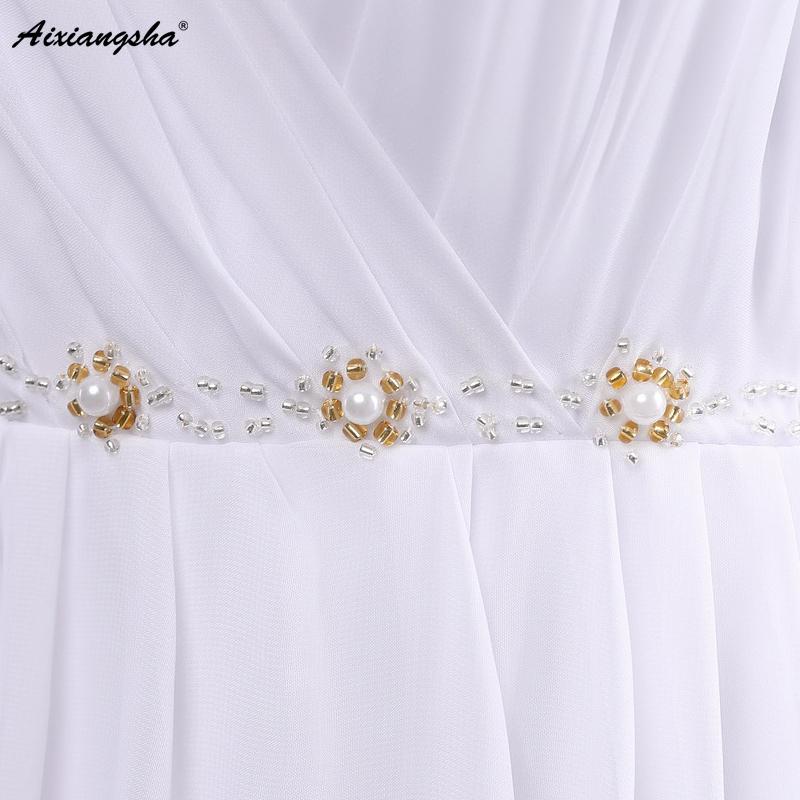 Dress Bride Ivory Chiffon Open Back 2017 Greek Style Vestidos Wedding Dress Sleeveless Floor Length Sexy Wedding Dress 2