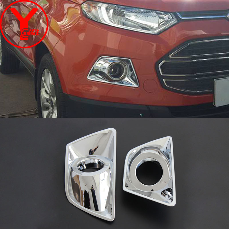 YCSUNZ ABS front fog lamp cover fog lights for cars chrome car parts accessories For Ford Ecosport 2013 2014 2015 2016 2017 fog light cover fog cover chrome accessories - title=