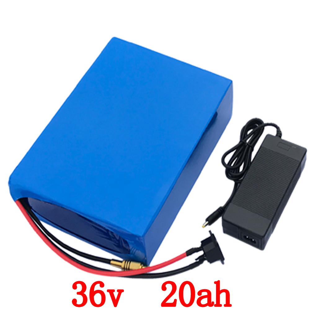 Free customs fee 36V 20AH battery 1000W 36 V 20AH lithium battery use 3.7V 2000mah 18650 cell 30A BMS and 2A Charger free customs fee 1000w 36v 17 5ah battery pack 36 v lithium ion battery 18ah use samsung 3500mah cell 30a bms with 2a charger