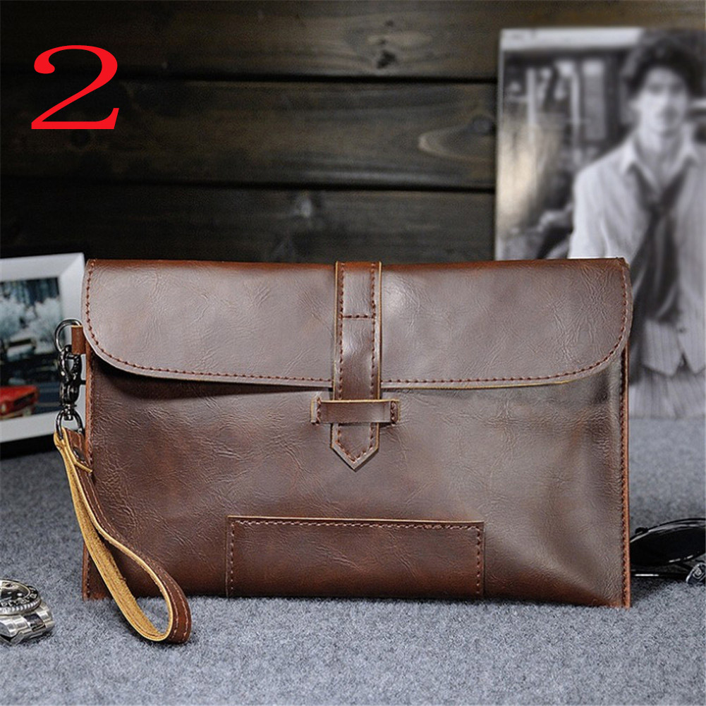 HTB1reX7XdfvK1RjSspfq6zzXFXav Hot Sale Men PU Leather Business Work Handbag 2018 New Fashion Male Solid Color Envelope Bag Briefcase