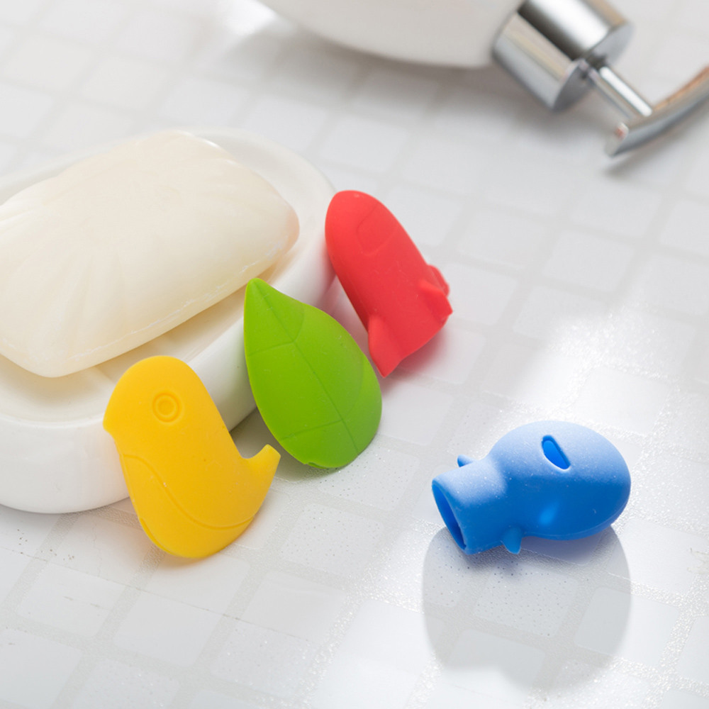 1 Pc Linda caricatura portátil viaje Camping proteger cepillo de dientes cabeza limpiador cubierta Hotel baño salud Germproof feliz regalos