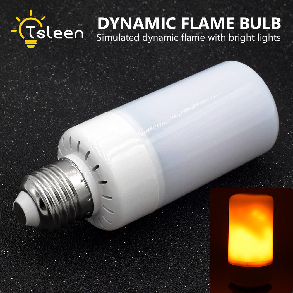 New E27 LED Flame Effect Fire Light Bulb AC85-265V SMD 3528 5W 1800K LED Fire Flame Flicker LED Lamp Candle Light for Home Decor