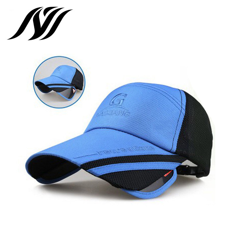2016 Real Time limited Adult Unisex Hat Brim Summer Retractable Visor Male Female Fishing Sunscreen Sun